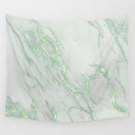 Marble Love Green Metallic Wall Tapestry