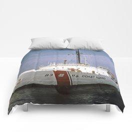 USCG Vintage Mackinaw 83 Icebreaker Comforters