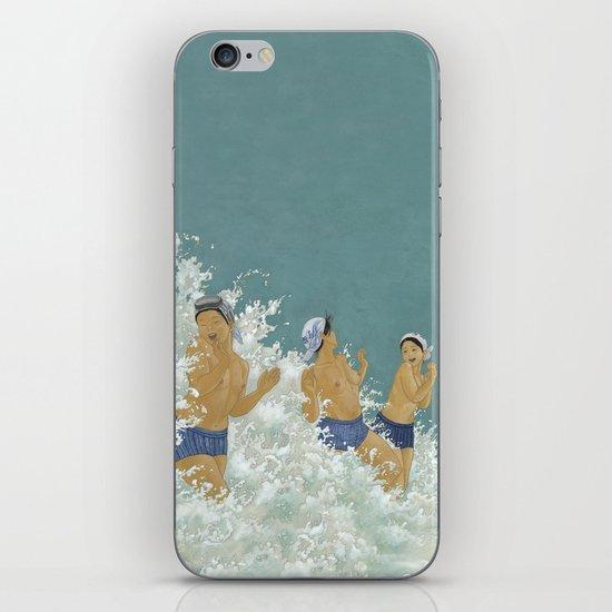 Three Ama Enveloped In A Crashing Wave iPhone & iPod Skin