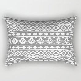 Aztec Essence Ptn III White on Grey Rectangular Pillow