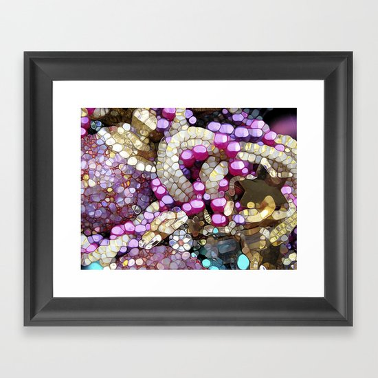 For the Love of BLING! Framed Art Print