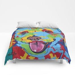 Labradoodle or Goldendoodle Pop Art Dog Pet Portrait Comforters