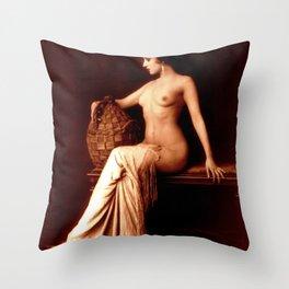 Dorothy Knapp Vintage Sophistication Throw Pillow