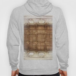 Wooden church ceiling  Hoody