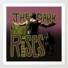 Showdown // The Dark Knight Rises Art Print