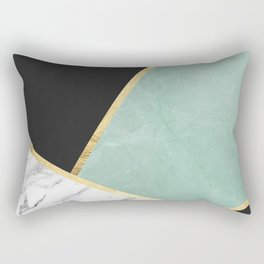 Art with marble V Rectangular Pillow