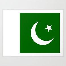 Pakistan national flag Art Print