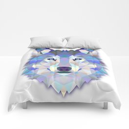 Colorful Wolf Comforters