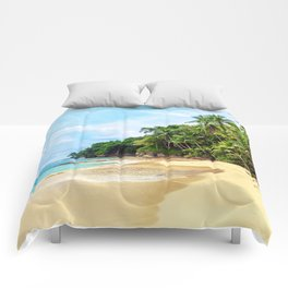 Tropical Beach - Landscape Nature Photography Comforters