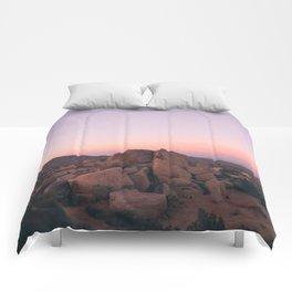 Pink Desert Palm Desert Comforters