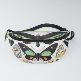Adolphe Millot - Papillons B - French vintage poster Fanny Pack