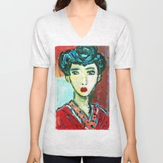 LADY MATISSE IN TEEN YEARS Unisex V-Neck