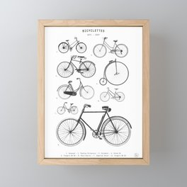 Collections - Bicyclettes Framed Mini Art Print