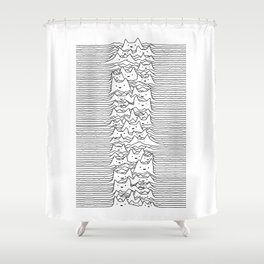 Furr Division White Shower Curtain