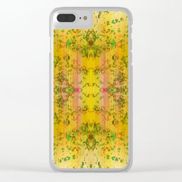 fresh stylized garden Clear iPhone Case