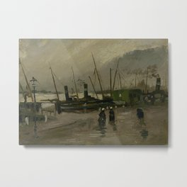 The De Ruijterkade in Amsterdam Metal Print
