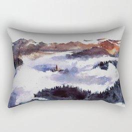 Hidden in the heights Rectangular Pillow