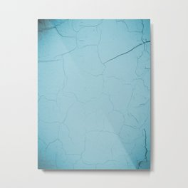 photo with damaged wall texture in soft blue tone ready for art, fashion, furniture, iphone cases Metal Print
