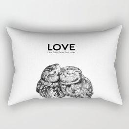 Owl love Rectangular Pillow