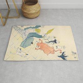 """Henri de Toulouse-Lautrec """"La Vache Enragée (The Mad Cow)"""" Rug"""