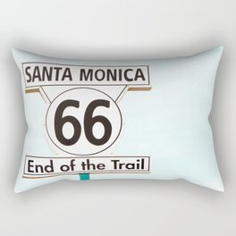 Travel photography Santa Monica XIII 66 End of the Trail Rectangular Pillow