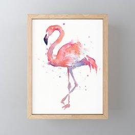 Flamingo Watercolor Framed Mini Art Print