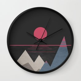 Minimal Sunset 10 Wall Clock
