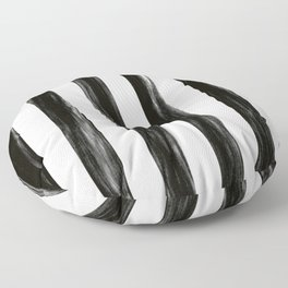 Strong Black Painted Stripes Floor Pillow