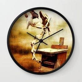 Feeding the Dragon Wall Clock