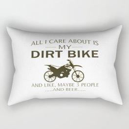 My DIRTBIKE and BEER Rectangular Pillow