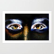 Fire Eyed Art Print