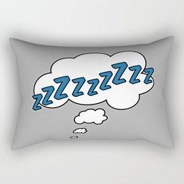 ZZZZZZZ - Comic Bubble Humor Text Rectangular Pillow