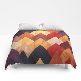 Eccentric Mountains Comforters