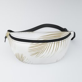 Palm Leaves - Gold Cali Vibes #3 #tropical #decor #art #society6 Fanny Pack