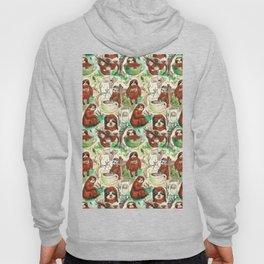 sloth in coffee pattern Hoody