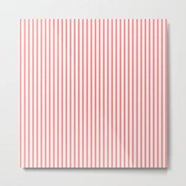 Small Australian Flag Red Mattress Ticking Bed Stripes Metal Print