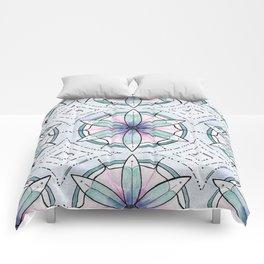Morse Code Mandala Comforters