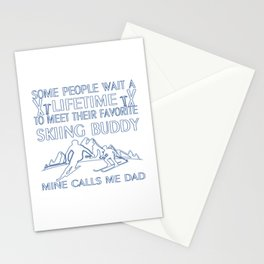 My Favorite Skiing Buddy Stationery Cards