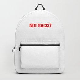 Funny Alopecia Balding Men Statement I'm Just Bald Not Racist Backpack