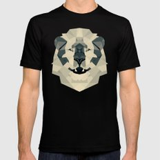 lion Black SMALL Mens Fitted Tee