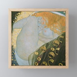 Danae, Gustav Klimt Framed Mini Art Print