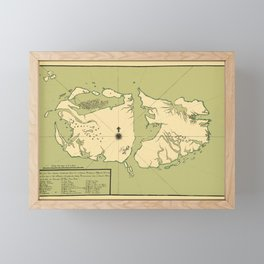 Map Of Falkland Islands 1700 Framed Mini Art Print