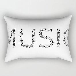 Music typo Rectangular Pillow