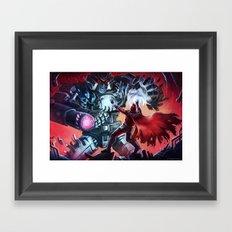 Magneto vs Megatron Framed Art Print