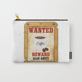 Wanted Coffee Carry-All Pouch
