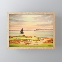 Chambers Bay Golf Course 15th Hole Framed Mini Art Print
