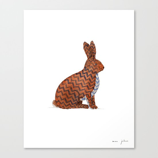 zig zag rabbit Canvas Print