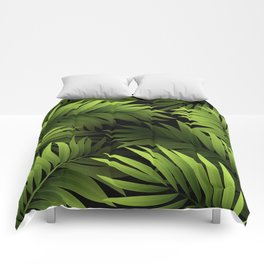 Tropical Frond Pattern Comforters