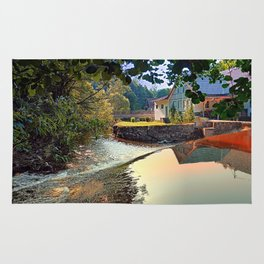 Nature, a river and colorful reflections | waterscape photography Rug