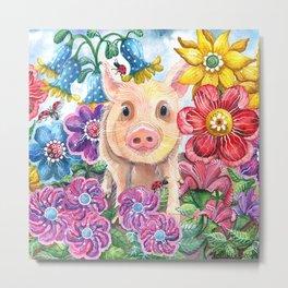 Penelope Pig Metal Print